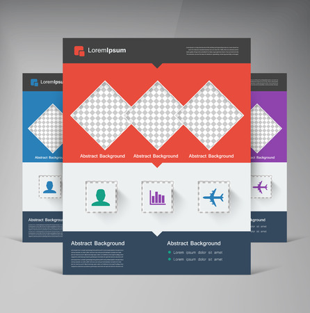 editable: Vector brochure flyer design layout squares.