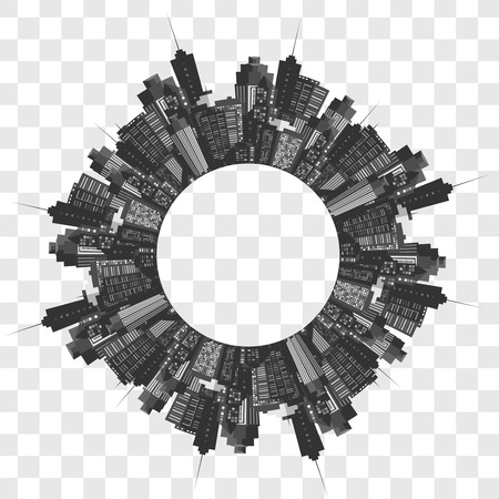 megapolis: Vector modern city. Cityscape background for your design, urban art. Buildings