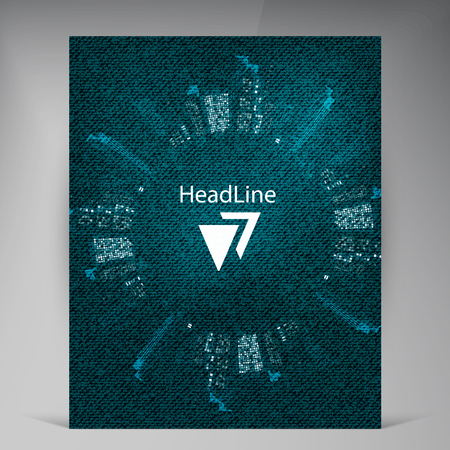 megapolis: Abstract vector modern flyers brochure. Business brochure flyer design layout template in A4 Illustration