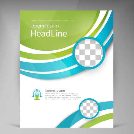 Vector Beautiful Green Flyer Template Flyers Design Business