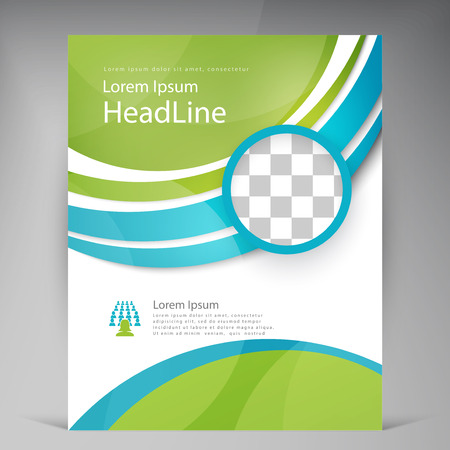 Vector Beautiful Green Flyer. Template flyers design. Business brochure