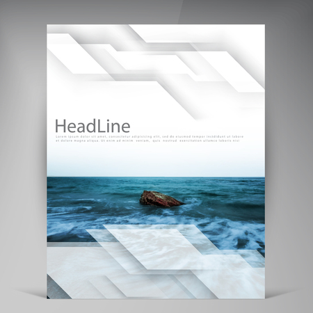 sea side: Abstract vector modern flyers brochure. Business brochure flyer design layout template in A4. Illustration