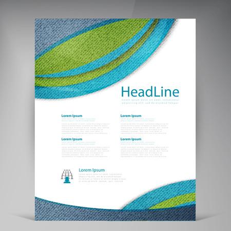 insert: Vector Beautiful Green Flyer. Template flyers design. Business brochure and circles