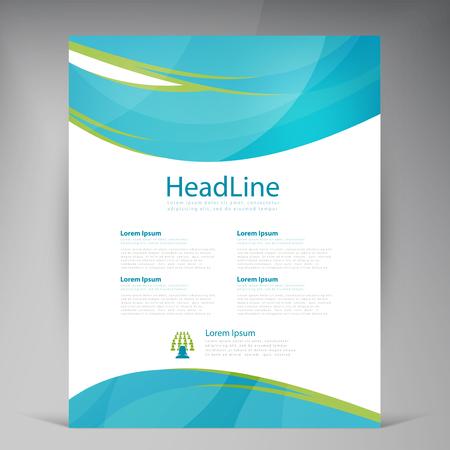 advert: Vector Beautiful Green Flyer. Template flyers design. Business brochure