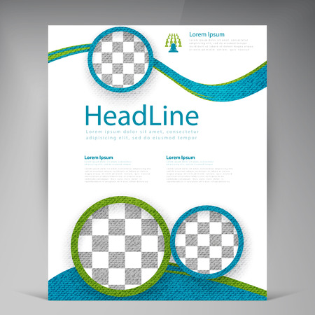 advert: Vector Beautiful Green Flyer. Template flyers design. Business brochure circles