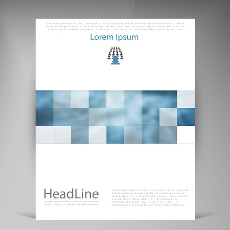 sea side: Abstract vector modern flyers brochure. Business brochure flyer design layout template in A4. Squares Illustration