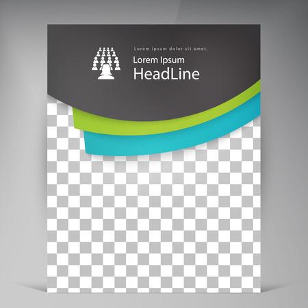 portada: vector resumen de volantes modernos folleto. plantilla de diseño de tarjeta publicitaria de negocios folleto en A4