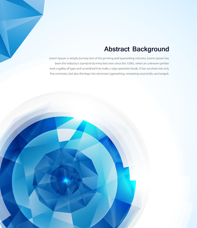 crystal background: abstract gem and blue ice