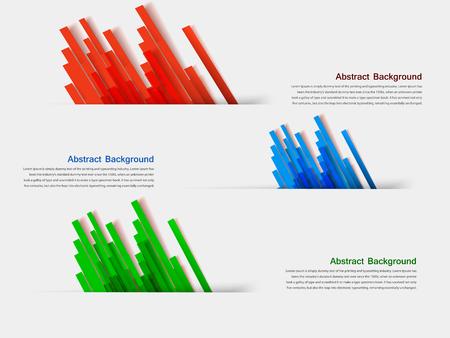 banner set . Colorful line. Strips
