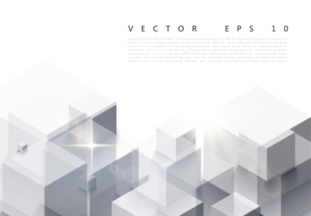A vector illustration of white background with gray abstract polygon pattern.