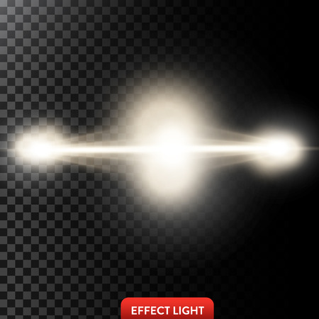 radiance: Vector illustration of a two golden light rays, a light beams, a glow effects