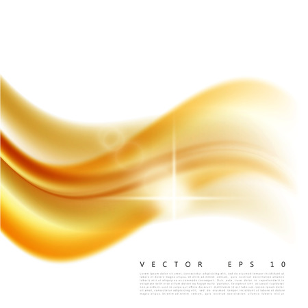 Vector illustration of an abstract orange wavy background, smooth layered yellow-orange wave, line with light effect. Illusztráció