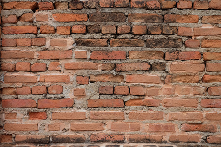 hinder: Grunge red brick wall background with copy space