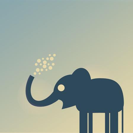 blisters: elefante Vettoriali