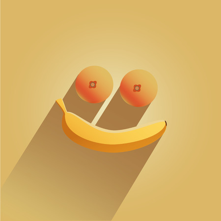 Smile made from bananas and oranges Stock Vector - 25953793