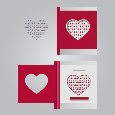 Template cards with hearts
