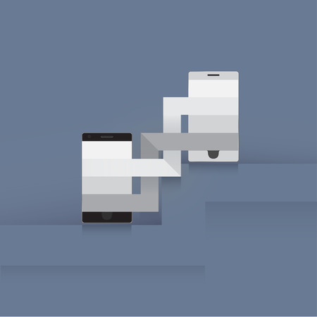 Template two phones Vector