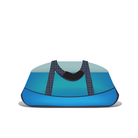 haversack: Isolated sports bag on a white  Illustration