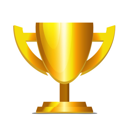 bandwagon: Golden Cup isolated on white  Illustration