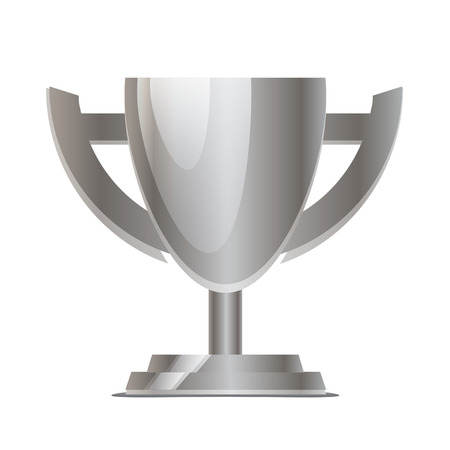 bandwagon: Silver Cup isolated on white  Illustration