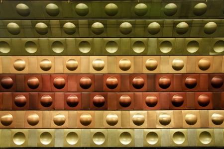 station m�tro: Futuriste motif circulaire dans la station de m�tro de Prague. Banque d'images