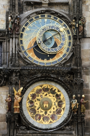 Astronomical clock with its figures of the town hall of Prague