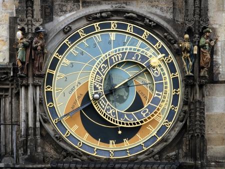 capricornio: Detalle del reloj astronómico y estatuas en el ayuntamiento de Praga Editorial