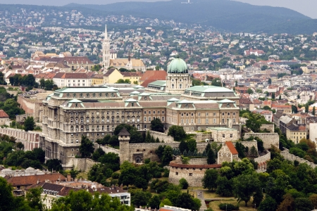 europe eastern: View of the Buda Castle or Royal Palace of Buda in Budapest Editorial
