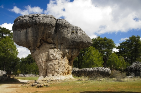cuenca: Strange rock in the Enchanted City in Cuenca, Spain Stock Photo