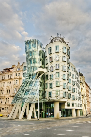 dancing house: Dancing House (Tancici Dum) Prague, also known as Ginger and Fred. The building was designed in 1992 by Vlado Milunic and Frank Gehry and completed in 1996. Editorial