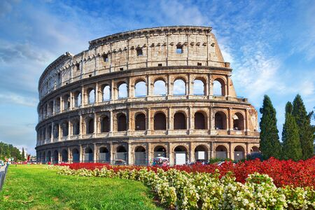 Colosseum in Rome and beautiful day
