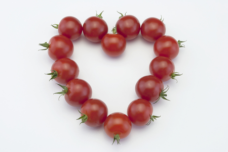 Red Cherry tomato heart design