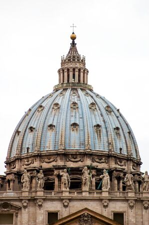 The Dome of Saint Peter's Square, Vatican City.