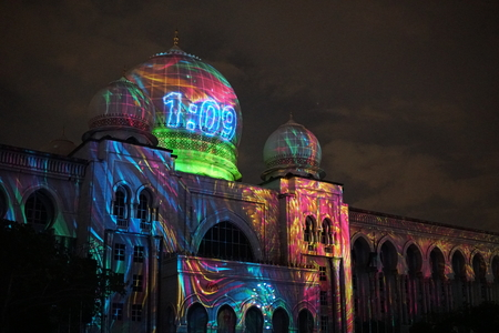 PUTRAJAYA,MALAYSIA - December 30, 2017: Putrajaya Malaysia, Festival of light and Motion (LAMPU) is one of the event in putrajaya.