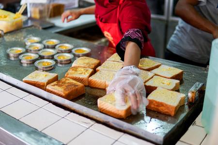 Workers preparing the