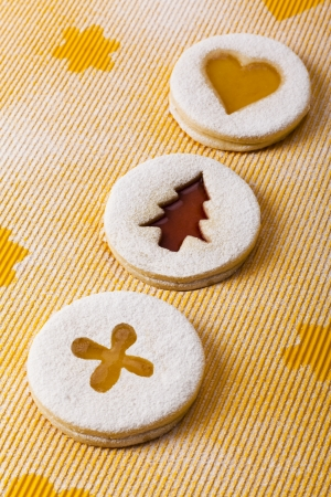 Christmas and new year gingerbread cookies with honey photo