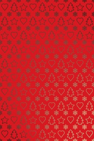 Red gold new year wrapping paper or greetings card design photo