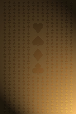 Seamless gold playing cards pattern for background photo