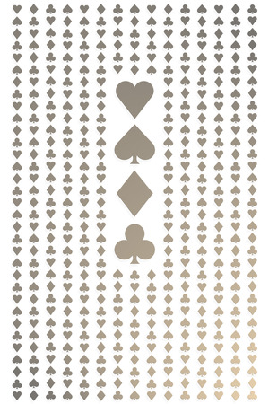 Seamless gold and white playing cards pattern for background photo