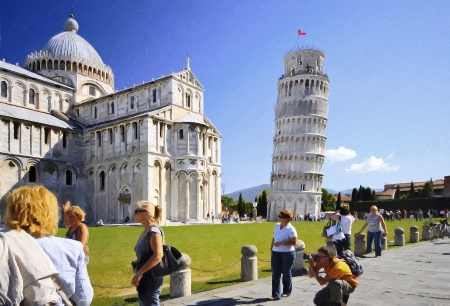 A view from world famous touristic place Pisa Tower