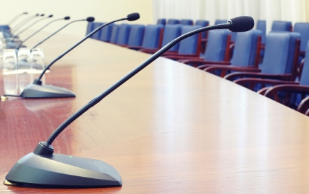 Empty conference room , starting the conference concept Stock Photo