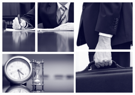 law report: Business collage, business concepts, business metaphors Stock Photo