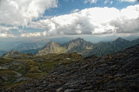 Mount Korab , Macedonia, Albania , mountaineering concept, hiking concept photo