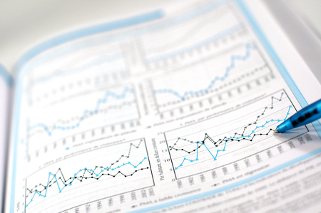 business finance: Showing business and financial report concept of financial report
