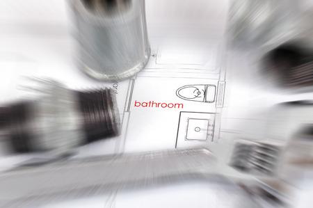 pezones: planes de plomería y material de fontanería, plomería concepto de actualización fittingsbathroom