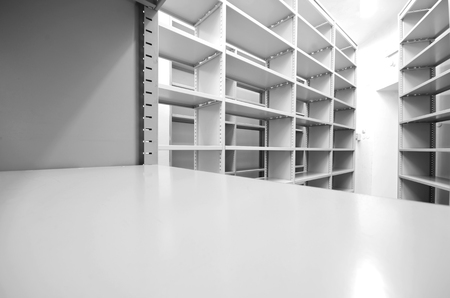 Empty archive storage units, archive rolling storage system