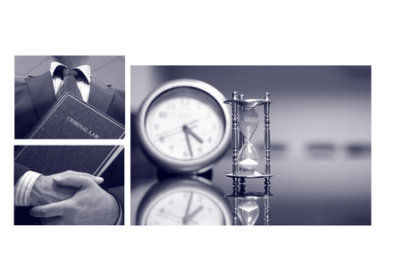 Business collage, Lawyer concept. Stock Photo