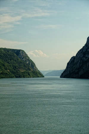 Eastern Serbia, The Iron Gates Gorge On Danube River, border with Romania, Djerdap national park