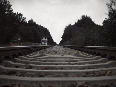 remoteness: Travel on train tracks into the distance