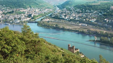 Looking down on River Rhine photo
